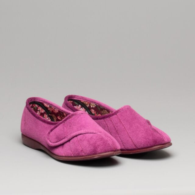 Great British Slippers AUDREY Ladies Beautiful Slip On Full Slippers Heather
