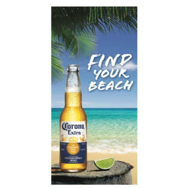 Corona Beer Find Your Beach Logo Beach Bath Towel 30 x 60 ...
