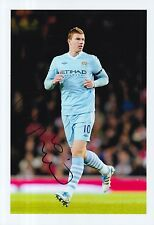 MANCHESTER CITY HAND SIGNED EDIN DZEKO 12X8 PHOTO.