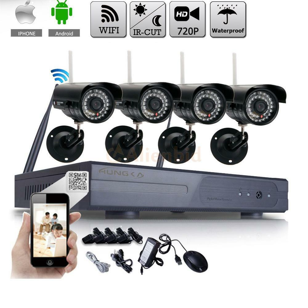 WIFI 8CH HD Wireless IP Camera NVR Outdoor Home Security Systems Night Vision US 1