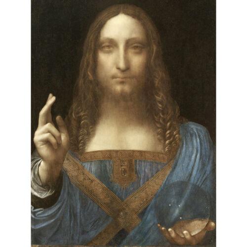 Da Vinci Salvator Mundi World Saviour Jesus Painting Huge Wall Art Poster Print
