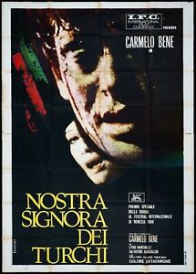 NOSTRA SIGNORA DEI TURCHI MANIFESTO CINEMA CARMELO BENE 1968 MOVIE POSTER 4F
