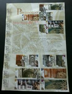 SJ-Portugal-UNESCO-Heritage-2002-Landmark-stamp-on-info-sheet-see-scan
