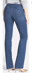 6 Not Your Daughters Jeans NYDJ Marilyn Straight Leg Jeans Burbank Wash Dark