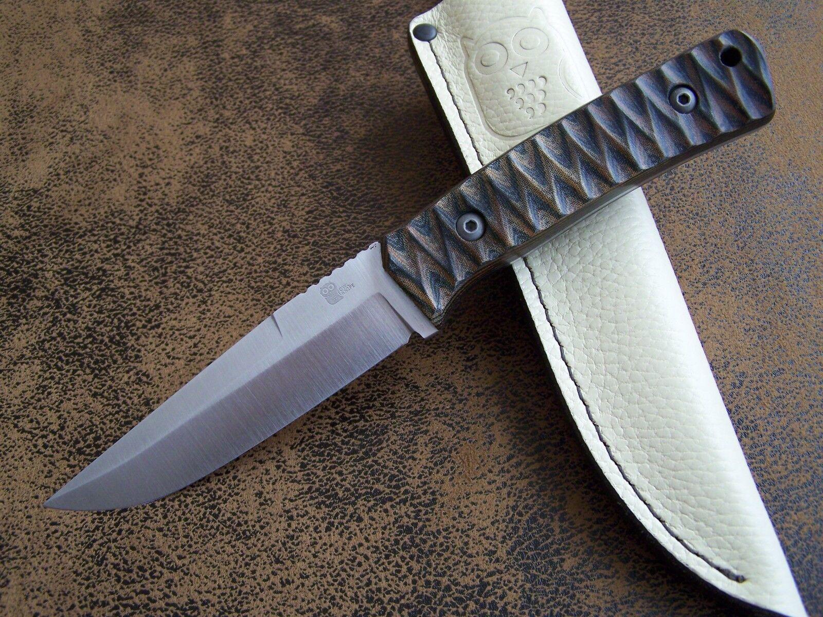 OWL KNIVES Exklusives Outdoor / Jagdmesser Mod. ATHENE N690 Böhler Stahl 61-HRC