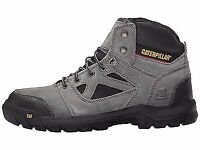 Caterpillar Plan Steel Toe Electrical Hazard Slip-resistant Work Boots Charcoal