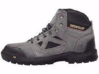 Caterpillar Plan Steel Toe Electrical Hazard Slip-resistant Work Boots Charcoal