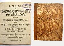 Geschichte des Herzoglich Schleswig-Holstein Gottorfischen Hofes - 1774