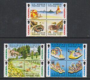 Jersey-1993-Envoi-Acquitte-Livret-Ensemble-En-Blocs-De-4-MNH-Sg-601-12