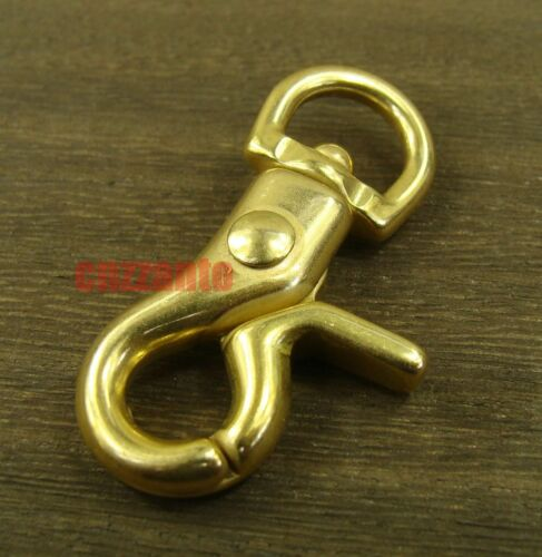 4pcs Solid brass lobster clasps swivel eye Fob trigger Snap hook for keychain
