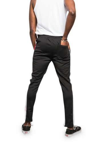 Men/'s Color Blocked Jogger Sports Workout Techno Track Pants    S~5XL      TR544