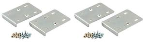 x4 KITCHEN HINGE REPAIR KIT Plate Cupboard Door Cabinet Pair Silver Screws
