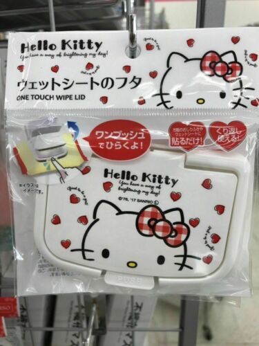 SANRIO HELLO KITTY Only Wet Tissue Paste Lid Can be Used Repeatedly NC KAWAII