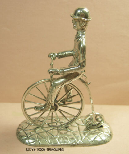 800 SILVER MINIATURE HIGH WHEEL BICYCLE 3.50x2.50x1.25 69.10gr. MADE IN ITALY