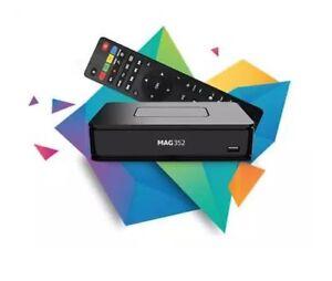 Mag-351-352-Uhd-Iptv-Ott-4k-Hevc-Multimedia-Top-Wi-Fi-Stalker-Enchufe-de-Ue-Gb