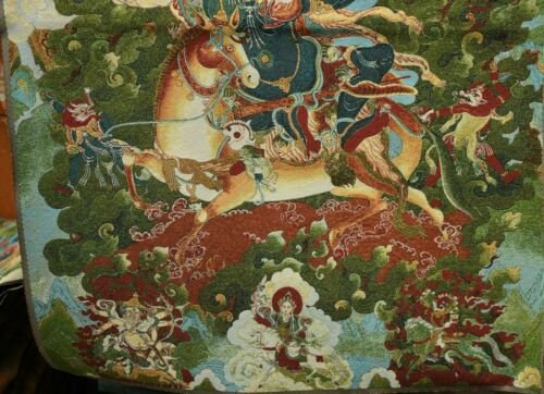 90CM Tibet Cloth Silk Buddhism Palden Lhamo Deity Thangka Tangka Mural Painting