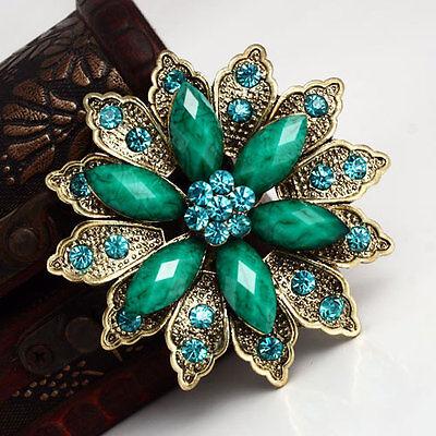 Fashion Rhinestone Crystal Flower Wedding Bridal Bouquet Alloy Brooch Pin