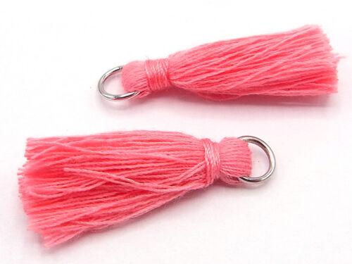 troddel Tassel rosa; t13 aprox hilaturas de algodón 30 mm con corchete 2 x lana,