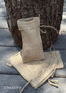 "Small Burlap Bags with Natural Jute Drawstring - Sack Favor Bag - 2x3"" 3x5"" 4x6"""