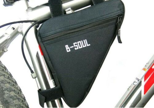 Triangle Bike Bag Cycling Bicycle Front Tube Frame Pouch Holder Saddle Pannier