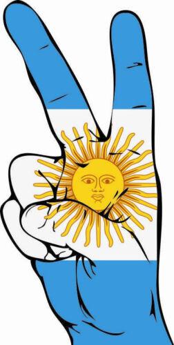 Aufkleber Peace-Finger Argentinien Flagge Fahne  Autoaufkleber 26 x 12 cm