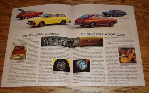 Transportation Original 1976 Toyota Corolla Liftback & Sport Coupe ...