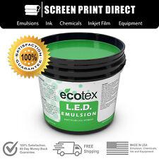 Ecotex Led Textile Pure Photopolymer Screen Printing Emulsion Quart 32 Oz