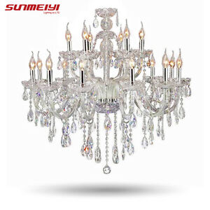 Image Is Loading Large Luxury Crystal Chandelier Living Room 18 Arm