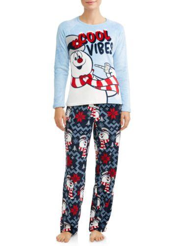 Frosty The Snowman Plush Soft Pajama Set Womans PJ/'s Set Small-Large