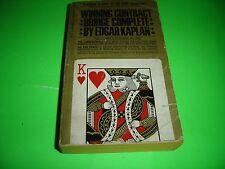 WINNING CONTRACT BRIDGE COMPLETE BY EDGAR KAPLAN Paperback 1968