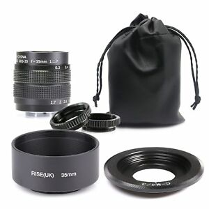Fujian-35mm-f-1-7-CCTV-cine-lens-for-M4-3-MFT-Mount-Camera-amp-Lens-Hood-amp-Bag