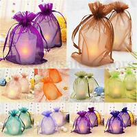 25/50/100 PCS Organza Jewelry Candy Gift Pouch Bags Wedding Party Favors Decor