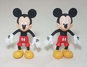 """Lot of 2 Disney Mickey Mouse Figurines ~ 3.5"""" tall"""