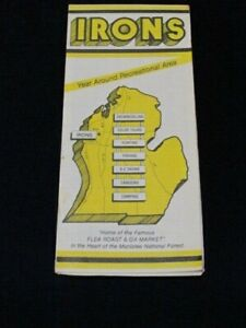 Vintage-Irons-Michigan-Public-Snowmobile-Trail-Road-Map-Camping-Hunting-Fishing