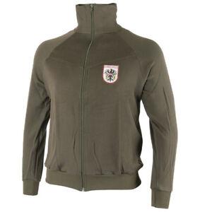 Details about Austrian Army Vintage Tracksuit Jacket. Classic Workout Jacket Bundesheer Eagle