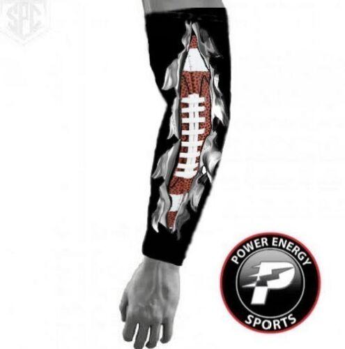 "Football Compression Moisture Wicking Arm Sleeve Black /""I Bleed Football/"""