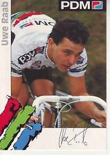 CYCLISME carte  cycliste UWE RAAB équipe PDM