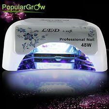 PopularGrow UV Nail Care Lamp 48W CCFL&LED Cure Gel Dryer Light Timer Gel Polish