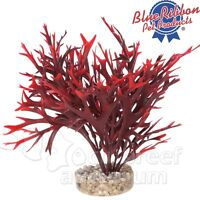 Red Water Fern Aquarium Free-standing Weighted Plastic Colorburst Plant 7