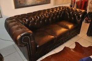 Chesterfield Original Rochester Traditionell 3er Sofa Cccccc Ebay