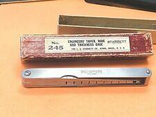 Starrett No 245 English Steel Thickness Gage 0002 0015 Range 11 Leaves