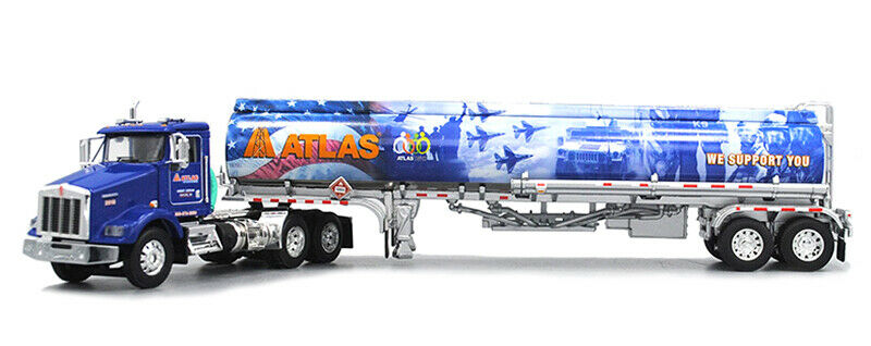 DCP 1 64 Kenworth T800 w  Heil Fuel Tanker  Atlas Oil Military Tribute 34114