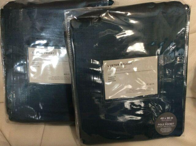 Er Velvet Curtains 48x96 Regal Blue