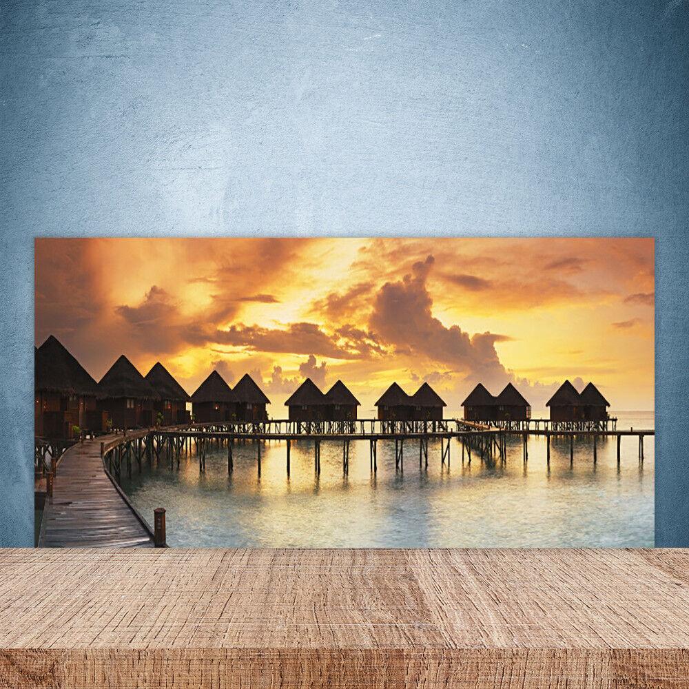 Crédence de cuisine en verre Panneau Paroi 100x50 Maisons De Vacances Mer Du Sud