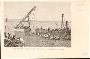 Torpedo-boat-Torpilleur-102-Saint-Nazaire-FRANCE-GRAVURE-ANTIQUE-OLD-PRINT-1889