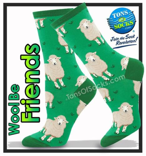 Green Women/'s Wool Be Friends Socks