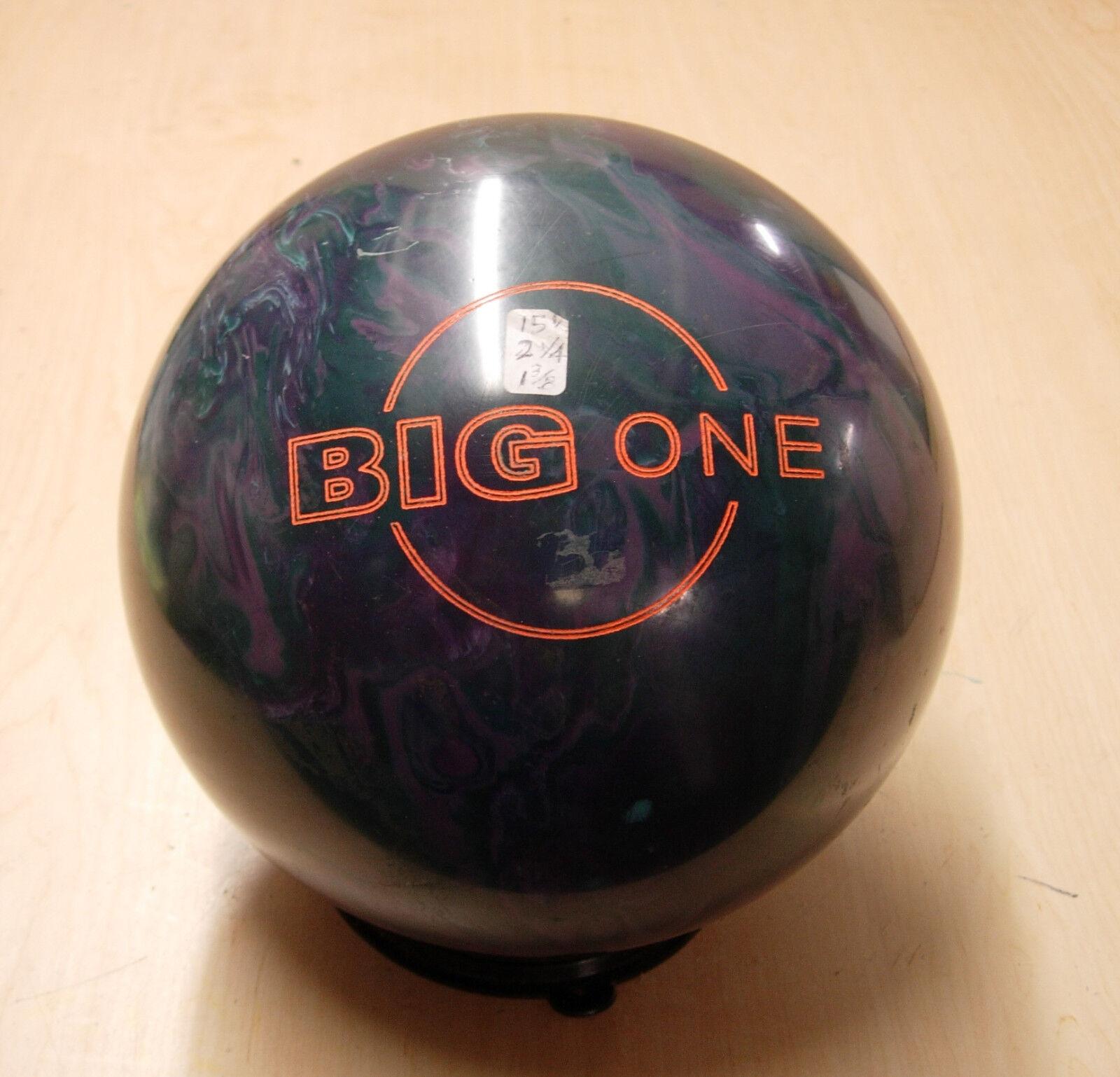 = 15oz TW 2.25 Pin 1-7 16 Ebonite 2006 BIG ONE Old Display Ball