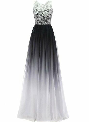 Edel Abendkleider Cocktailkleid Brautjungfernkleider Lang Spitzen Kleider 34-52