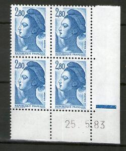 TIMBRE-N-2275-NEUF-XX-LUXE-COIN-DATE-DU-25-5-83-LIBERTE-DE-GANDON-1