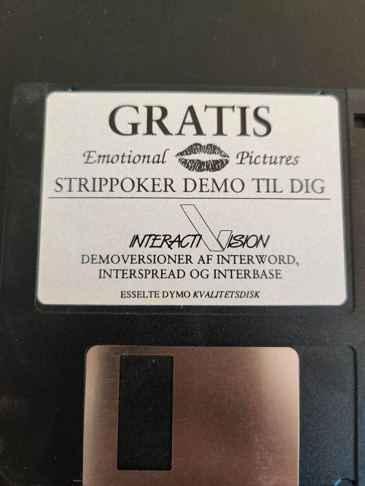 Amiga strip poker demo, Amiga